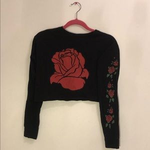 "Cropped ""Rose"" Top"